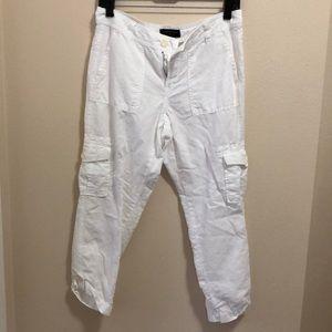 Banana Republic White linen pants